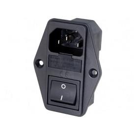 Conector Alimentacion AC+PortaFusible+Interruptor IEC60320