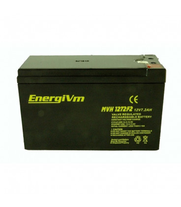 Bateria PLOMO 12V 7,2Ah UPS/Sais medidas 151x65x95mm ENERGIVM