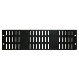 Panel Rack 19in Perforado Frontal 3U