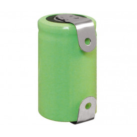 Bateria 1/2A 1,2V 1050mAp con terminales NiMh