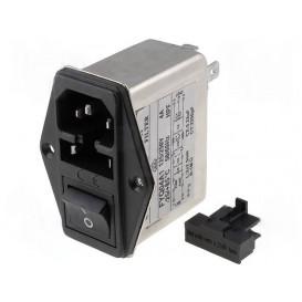 Conector Alimentaci IEC320 Interrup+Fusible+Filtro