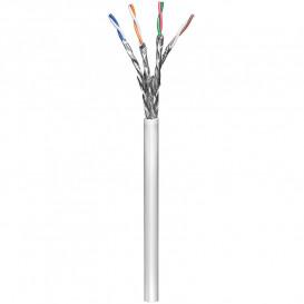 Bobina 100m Cable FTP Cat6 Rigido CCA Apantallado