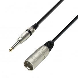 Cable XLR Macho a JACK 6,3 Mono 1m