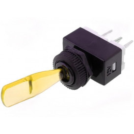 Interruptor Palanca Iluminado 12V AMARILLO 6A/12Vdc ON-OFF