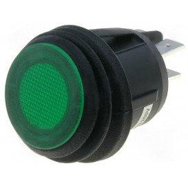 Interruptor Basculante 2Ctos 10A/250V Luminoso Verde IP65