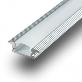 Perfil LED Empotrar Difusor Mate 1000x24x10