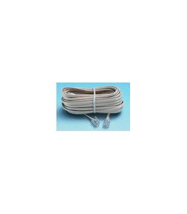 Cable Telefono RJ11 6P4C 7metros color Blanco RJ11-WH/07
