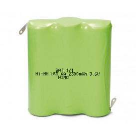 Bateria 3,6V 2300mA Ni-Mh AAx3 Precargada