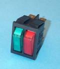 Interruptor Basculante Doble Bipolar Azul-Rojo
