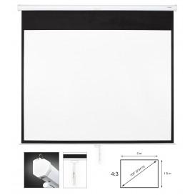 Pantalla Proyeccion Manual 100in 4:3 2,0x1,5m