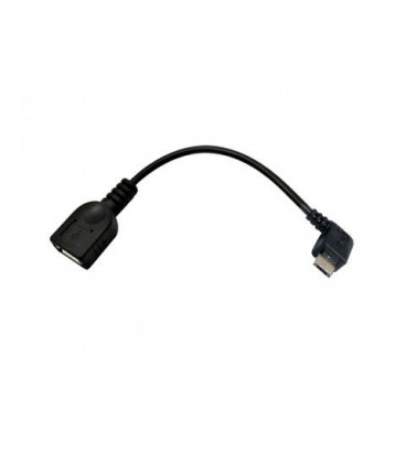 Cable USB A Hembra a MicroUSB B Macho OTG Acodado