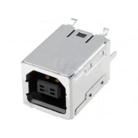Base USB B Hembra Cto.Impreso montaje vertical