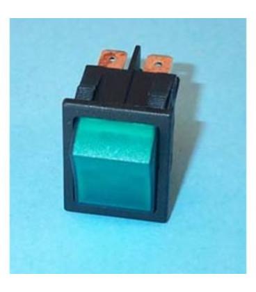 Interruptor Bipolar Verde 27,3x24 16A faston