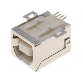 Base USB B Hembra Recto Cto. Impreso