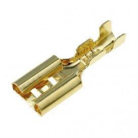 Faston Hembra 9,5mm Desnudo dorado Cable 3-6mm