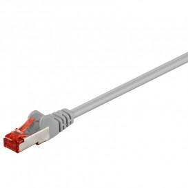 Cable Red Latiguillo RJ45 FTP Cat6 20m CU LSZH GRIS
