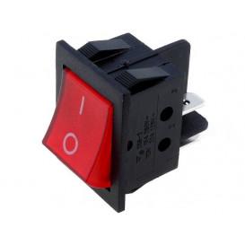 Interruptor Basculante Bipolar Luminoso ROJO OFF-ON 15A/250Vac