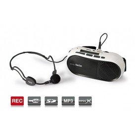 Amplificador de cintura 10W microfono y USB SD MP3