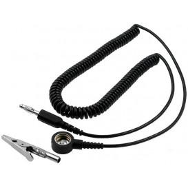 Cable Conexion espiral con clip para ESD