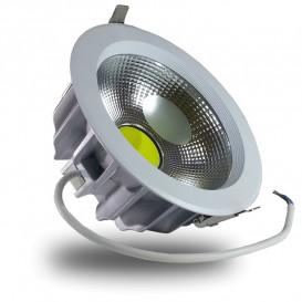 DownLight LED COB 30W 220mm 3000K Luz CALIDA